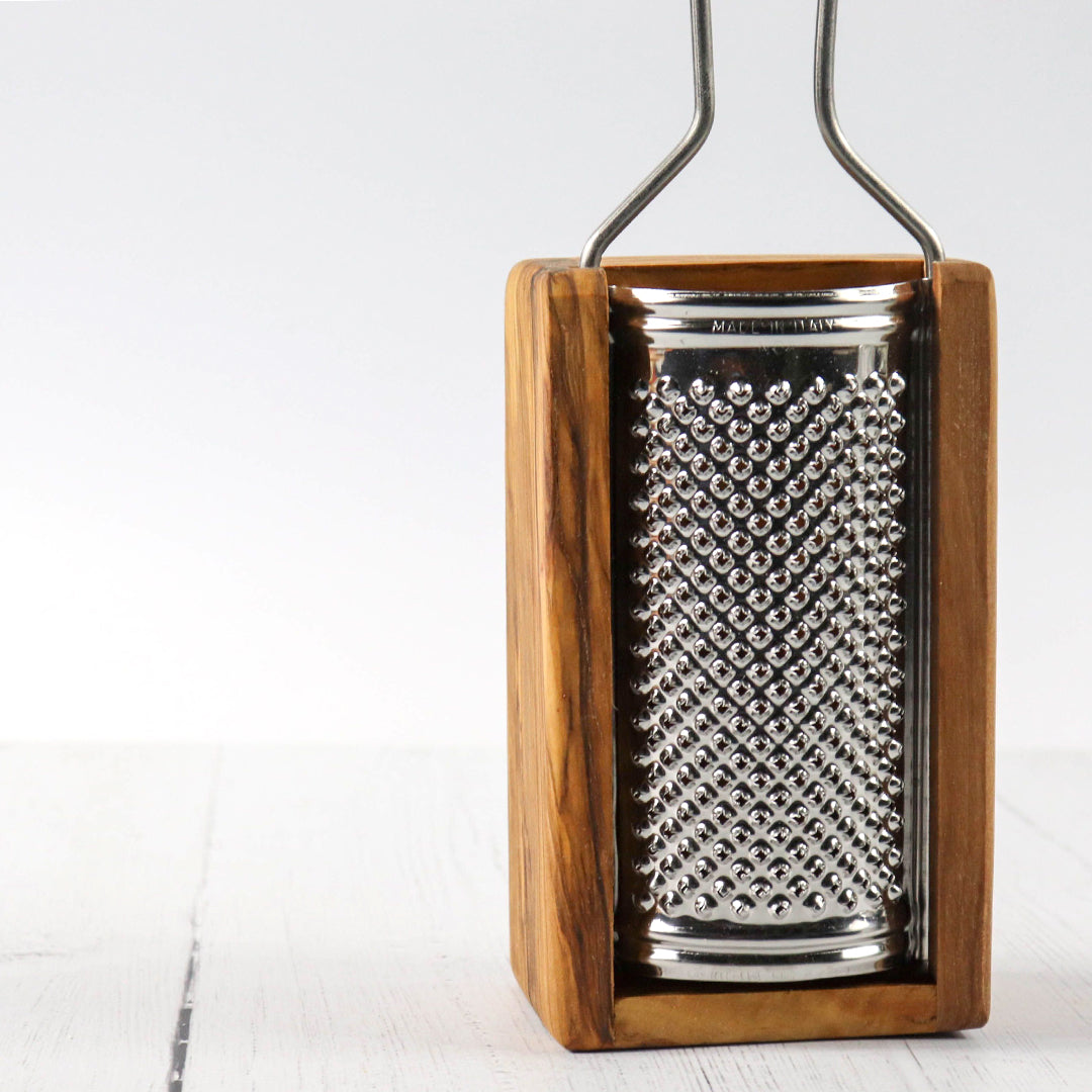 Olive wood Cheese grater from France - eku Box