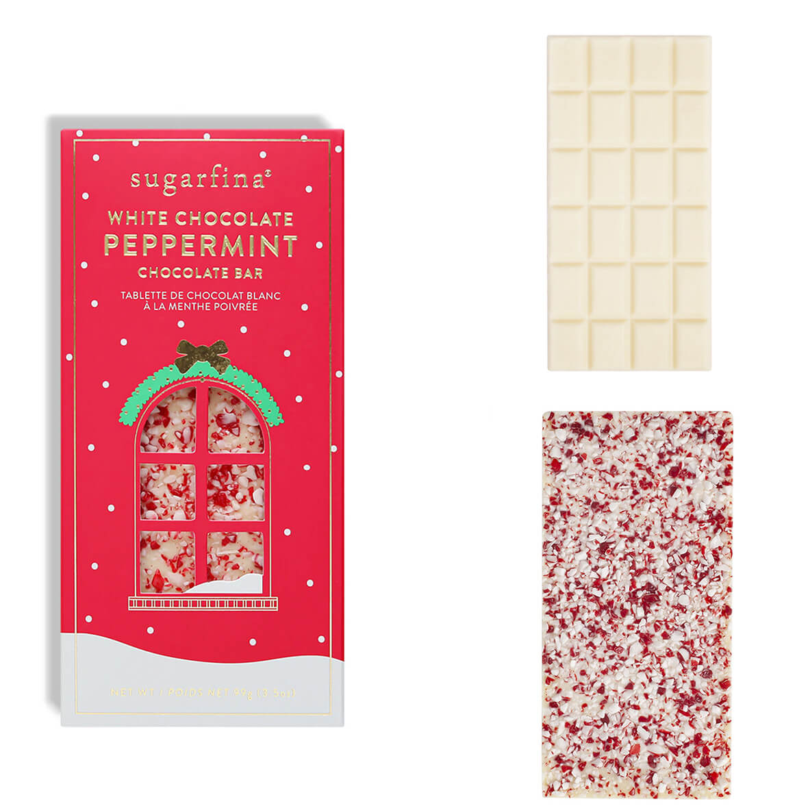 Sugarfina white chocolate peppermint bar - ekuBOX