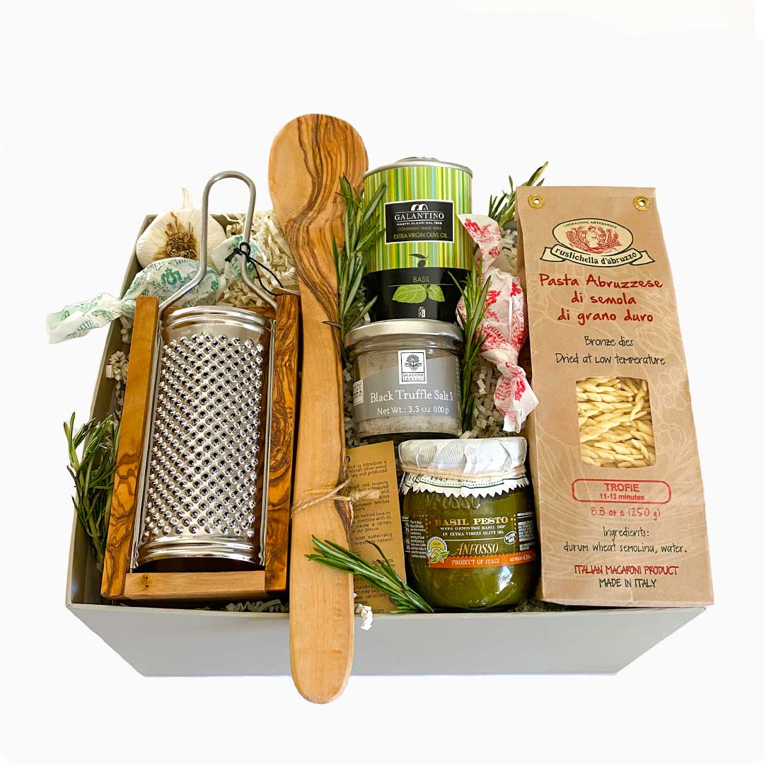 Taste of Italy Gift Box with Imported Italian Pesto and Trofie Pasta
