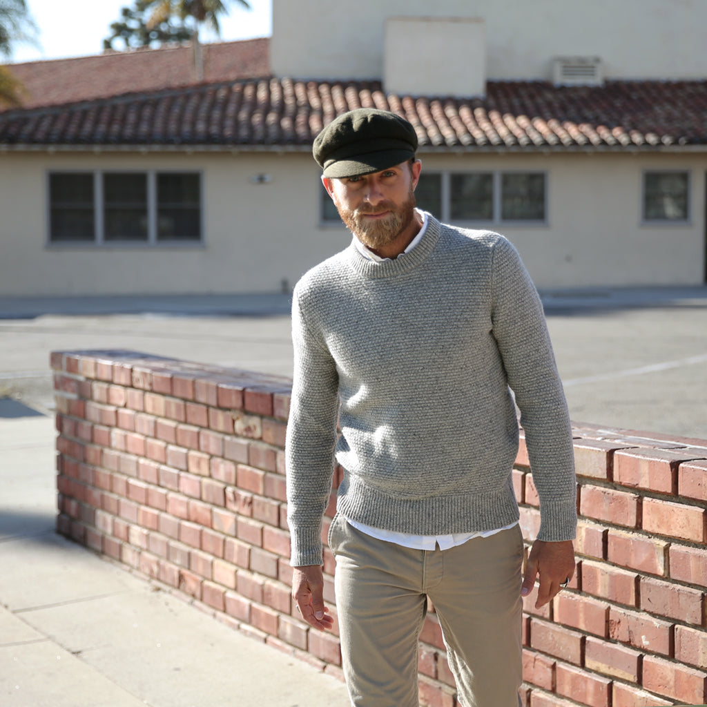ANCHOR CAP - OLIVE WOOL – Yellow 108  4f551af72588