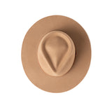 Dylan Fedora - Camel with Leather Bow