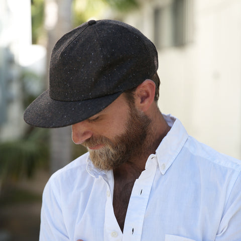REEL BALL CAP - BROWN WOOL