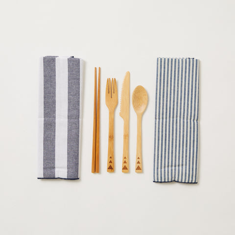 Bamboo Cutlery Set 2 Pack