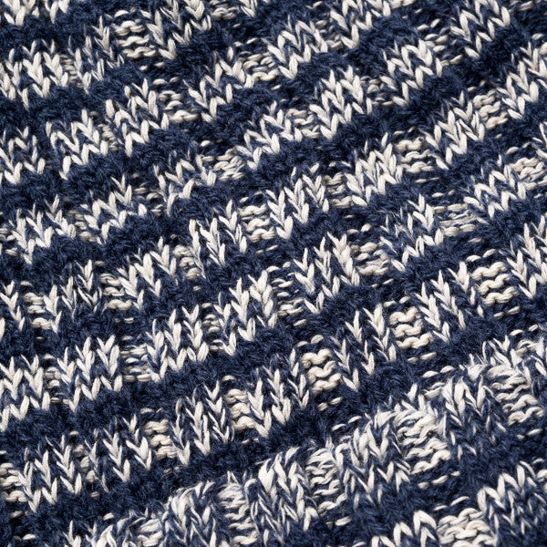 Yurt Beanie - Navy Stripes