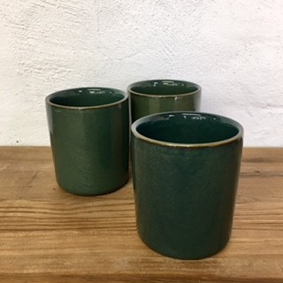 Green Glaze Ceramic Pot