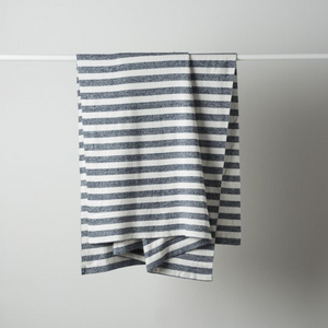 Stripe Cotton Knit Cot Blanket