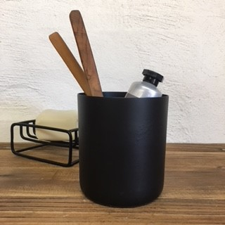 Black Toothbrush Holder