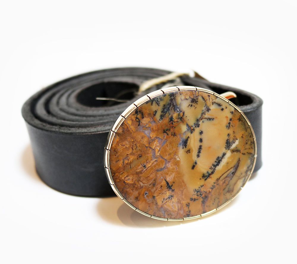Belt Buckle - Dendritic Agate - Oval