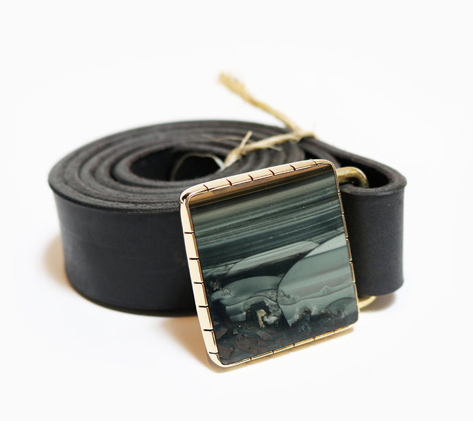 Square Jasper Belt Buckle