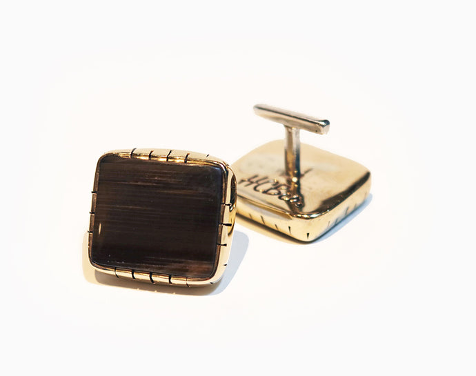 Petrified Wood Cuff Links