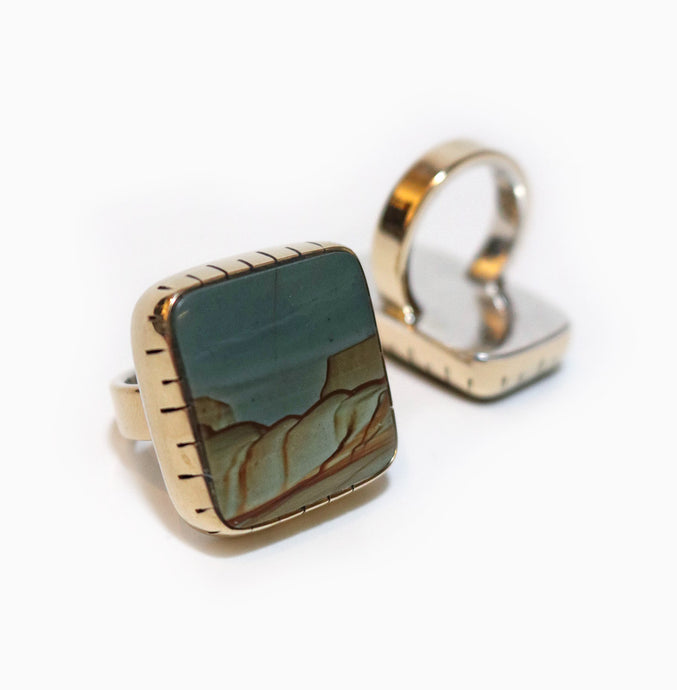 Ring - Succor Creek Picture Jasper