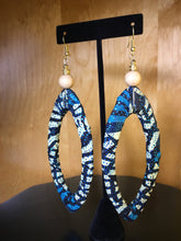 Load image into Gallery viewer, African Fabric Oval Earrings