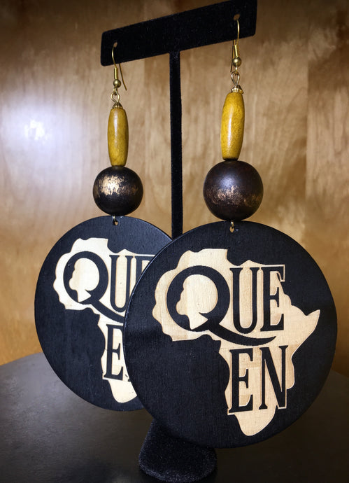 Queen Wood Earring