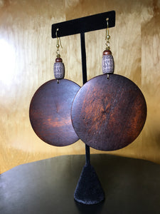 Large Wood Earring