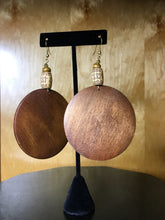Load image into Gallery viewer, Large Wood Earrings