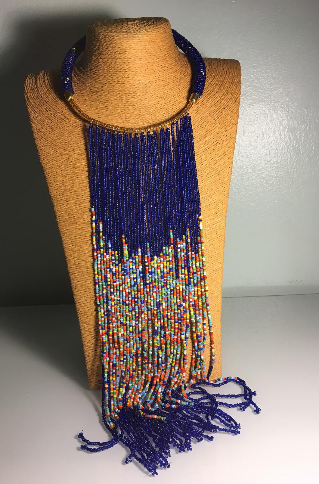 Maasai Long Strand Beaded Necklace