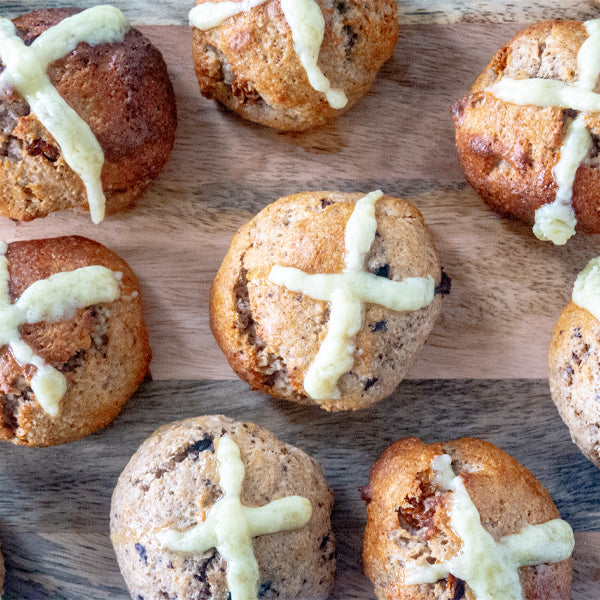 Egg Free, Protein Keto Hot Cross Buns