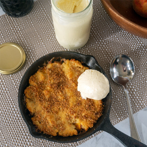 Skillet  Low Carb Peach Cobbler