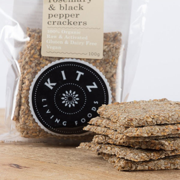 Rosemary & Black Pepper Crackers | 100g