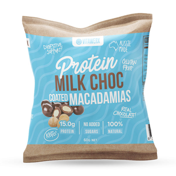 Protein Milk Chocolate Coated Macadamias