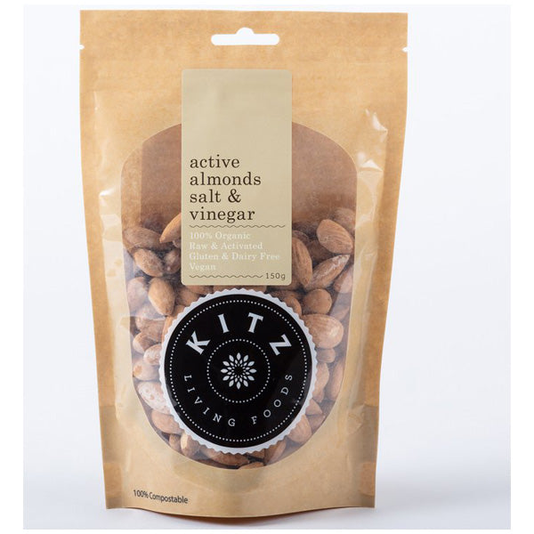 Activated Salt & Vinegar Almonds- 150g