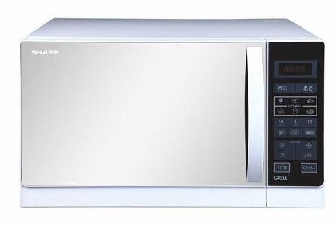 Sharp .9 cu.ft. (25L) Microwave Oven w/Grill 1000 Watts R-75MRW White