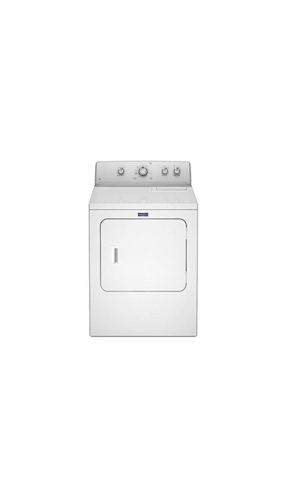 "Maytag 29"" Electric Dryer 4 Automatic Cycles Knob Control 7 cu.ft. 3LMEDC415FW"