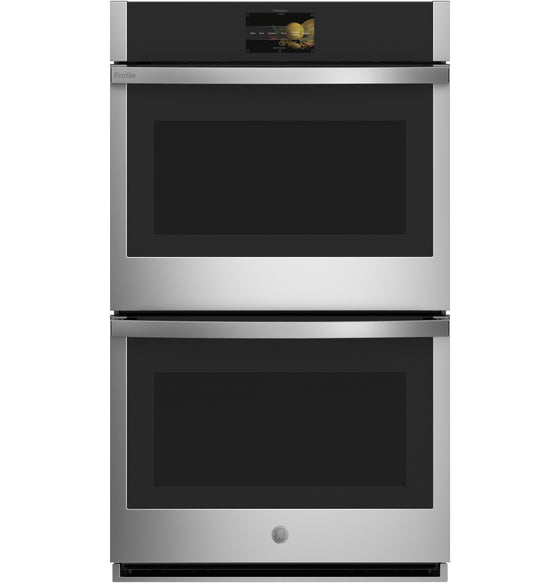 "220 VOLT GE 30"" Built-In Stainless Steel Direct-Air Convection Double Electric Wall Oven Color Touchscreen Panel PTD7000SNSS"