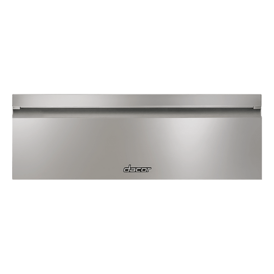 "Dacor 30"" Stainless Steel Warming Drawer w/Flush Handle HWD30S"