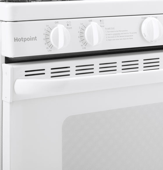 "Hotpoint 30"" Freestanding Gas Range 4 Burners 4.8 cu.ft. RGB518PCHWH"