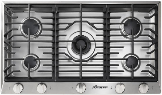 "Dacor 36"" Stainless Steel Gas Cooktop 5 Burners HCT365GS-LP"