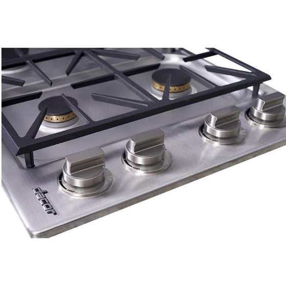 "Dacor 30"" Stainless Steel Gas Cooktop 4 Burners HDCT304GS-LP"