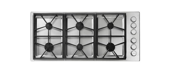 "Dacor 46"" Stainless Steel Gas Cooktop 6 Burners HPCT466GSLP"