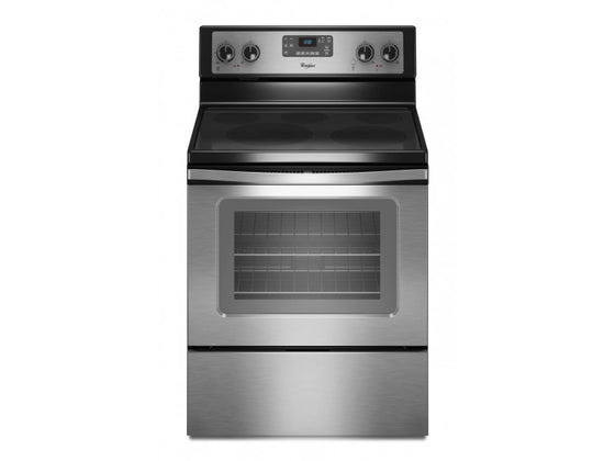 "Maytag 30"" Freestanding Electric Smoothtop Range Stainless Steel 5 Burners Self Clean 5.3 cu.ft. MER7685ES"