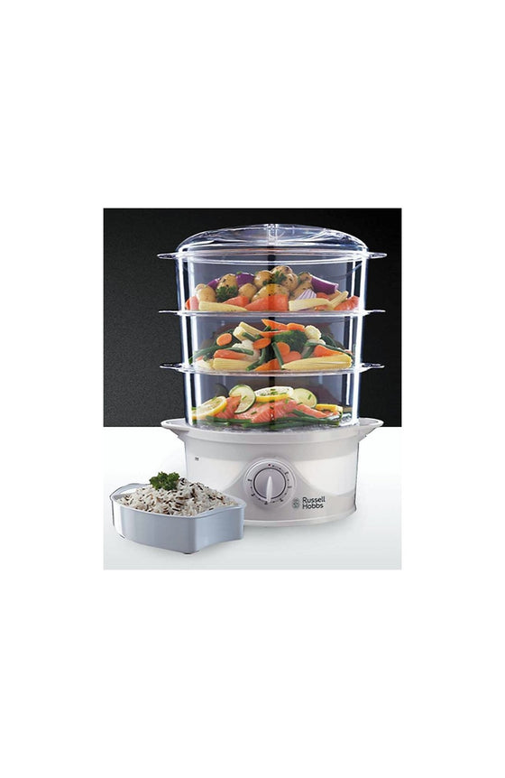 Russell Hobbs 9L Three Tier Food Steamer 800 Watts 21140