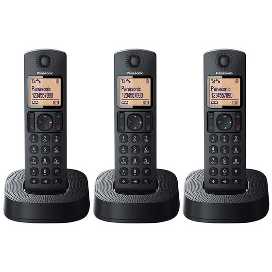 Panasonic Cordless Phone w/3 Handsets, Answering System, Speakerphone & Caller ID KX-TGC323