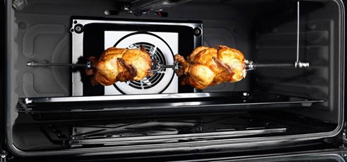 "Frigidaire 36"" Freestanding Stainless Steel Gas Range w/Rotisserie and Glass Cover 5 Burners 4.1 cu.ft. FNGE90JGRSO"