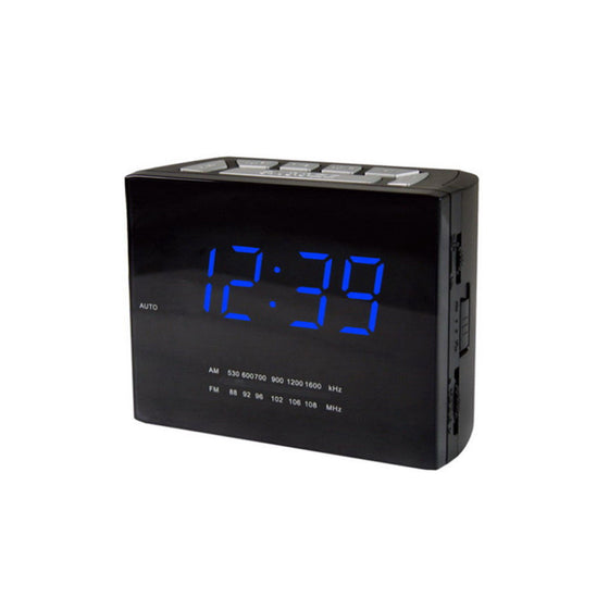 Daewoo FM Dual Alarm Clock Radio Block Style DI-2628 Worldwide Dual Voltage