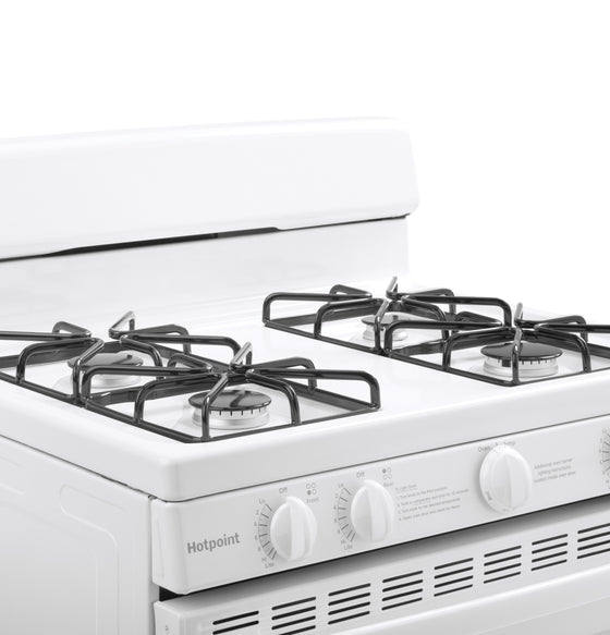"Hotpoint 30"" Freestanding Gas Range 4 Burners 4.8 cu.ft. RGBS200DMWW"