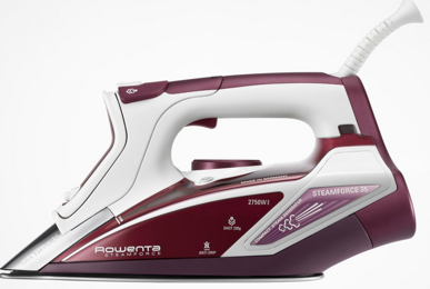 Rowenta SteamForce Iron Stainless Steel Soleplate Self Clean Auto Shut-Off 2750 Watts DW9230