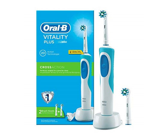 Braun Oral B Vitality Plus 2D Rechargeable Toothbrush w/Timer D12.523