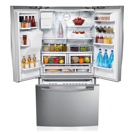 Samsung 18 cu.ft. 3-Door Stainless Steel w/Ice & Water Dispenser RFG23UERS1
