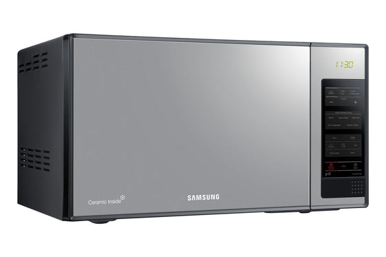 Samsung 1.4 cu.ft. (40L) Black Mirrored Glass Microwave Oven w/Grill 1300 Watts MG402