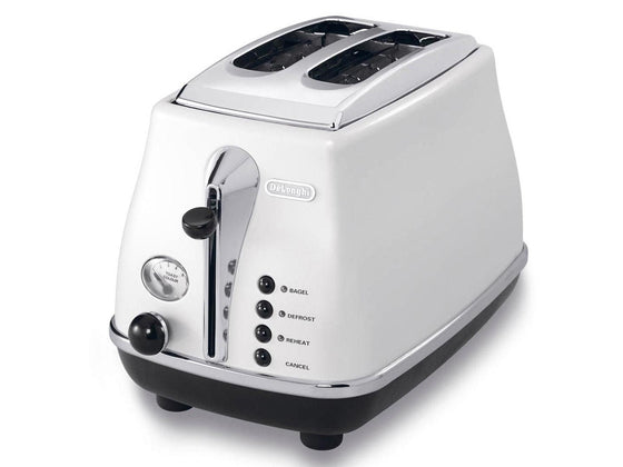 DeLonghi 2 Slice Icona Retro Electronic Toaster w/High Lift Lever 900 Watts CTO2003