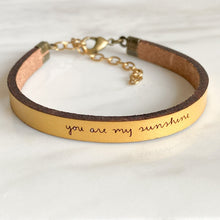 Load image into Gallery viewer, you are my sunshine bracelet