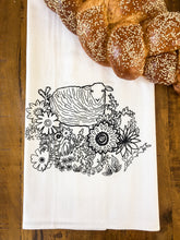 Load image into Gallery viewer, flower patch tea towel