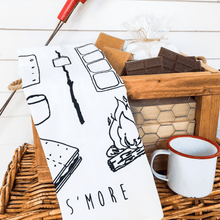 Load image into Gallery viewer, s'mores tea towel