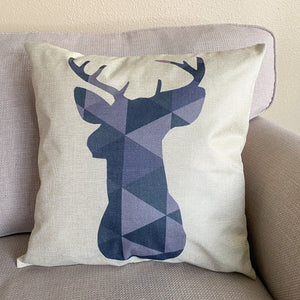 geometric deer pillow cover