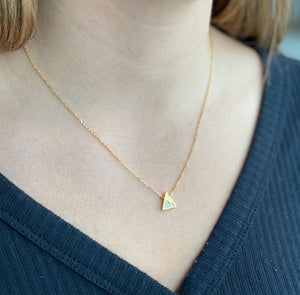 gilded mountain necklace