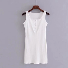 Load image into Gallery viewer, Button-Up Collar Tank Dress